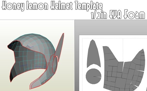 honey lemon helmet template for eva foam. Black Bedroom Furniture Sets. Home Design Ideas