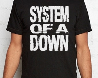System Of A Down t shirt SOAD serge armenian alternative rock metal punk tshirt
