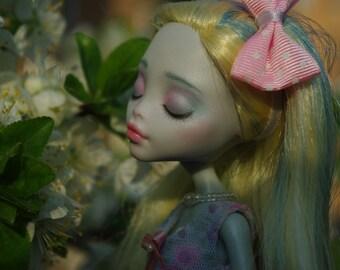 Mandy Art Doll OOAK Monster High Laguna Blue repaint by Danielle Silver