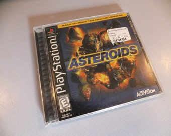 Asteroids Playstation PS1 Vintage Video Game Complete