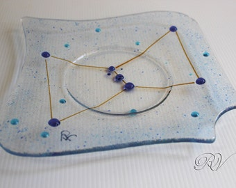 Orion Constellation: Fused Glass Dish