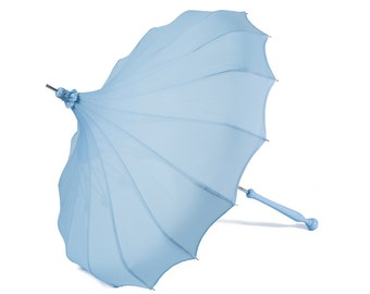 French Blue Pagoda by Bella Umbrella - Rain or Shine