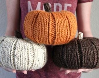 Knit Chunky Pumpkins, Fall Decor, Knit Pumpkins, Halloween Decor, Thanksgiving Decor, Pumpkin Decor, Housewarming Gift, Rustic Thanksgiving