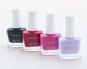 5 Free Nail Varnish • Vegan • Cruelty Free • Made in London by Hopscotch — Grey