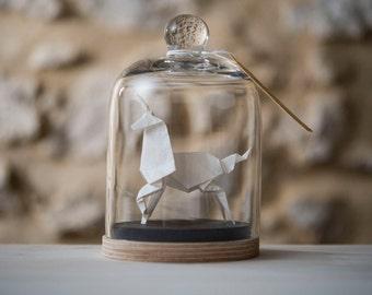 Sculpture Origami Licorne Blanc. Blade Runner. Taxidermie. Cabinet de Curiosités. Cadeau pour lui. Cadeau pour elle. Cadeau personnalisable