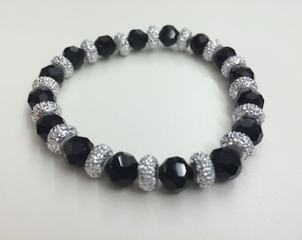 Black and Silver Elegant Bracelet