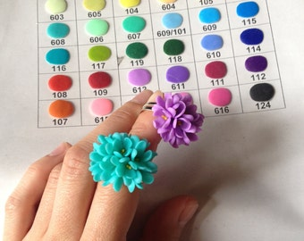 Colour palette. Please, choose color here. clay flowers, floral jewelry, artificial flowers