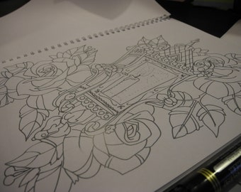 lantern colouring page