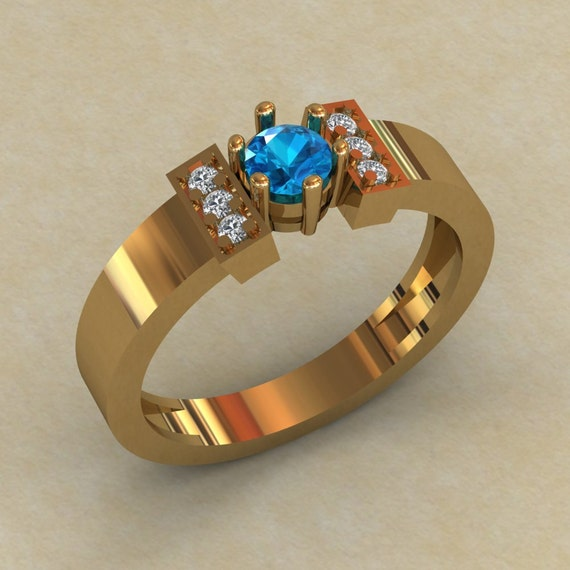 topaz promise ring topaz engagement ring gold by worldofgold