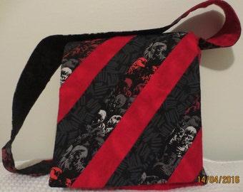 Custom Made: Fabric Front Flap Crossbody Patchwork Purse