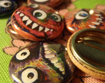 Monster Faces 5 Pin Set