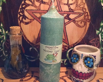 Money Toad™ Candle Palm Wax Pillar Pagan Ritual Witch Spell Supply