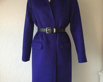 Cashmere coat blue verschlusslos size 36 S