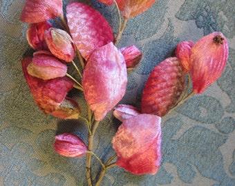 Vintage Pink Ombre Millinery Flower Cluster