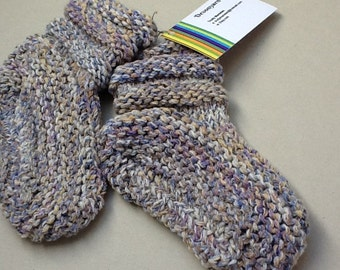 Slipper socks. Children's slipper socks. Hand knit.