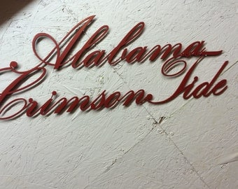 Alabama Crimson Tide metal wall art