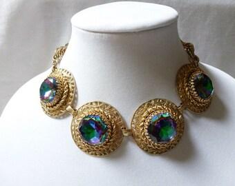 RARE Schiaparelli LARGE headlight WATERMELON Necklace