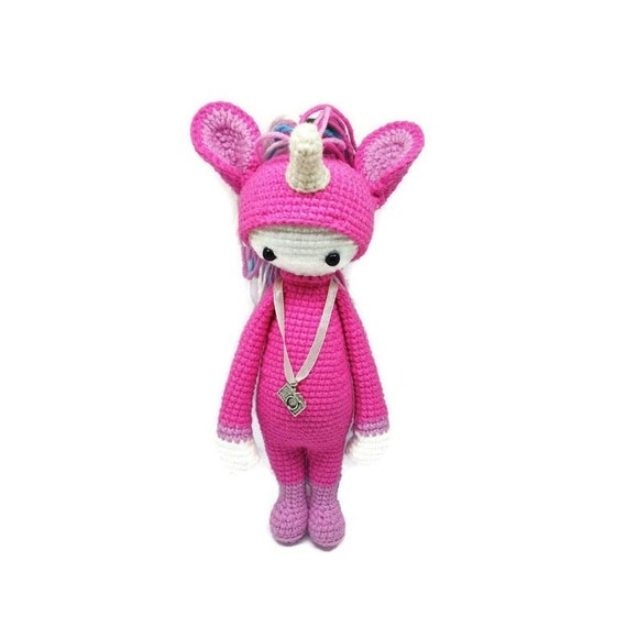 Handmade Crochet Toy Amigurumi Doll Unicorn by Toysgallery on Etsy