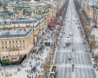 Panoramic Paris Photography-Print Photo-Paris overview-Travel photography-Poster print-France photography