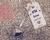 Heart Shape Tea Infuser Wedding Favor Gift Tag  Label