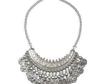 silver quintessa necklace