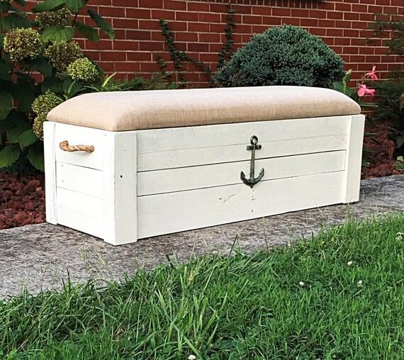 Foyer Storage Chest : Entryway bench toy box hope chest storage