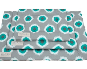 Ikat Dog Mat   Crate Mat   Crate Pad   Water Resistant Bottom   Portable Dog Bed   Crate Bed   Washable Pet Bed   Small/Medium/Large/XL Mats