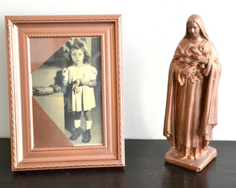 Vintage photo frame photograph old girl