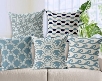 Lines waves cushion cover, ripple pillow cover, water waves cover