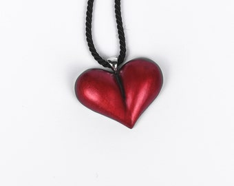 Clear in Papier Mâché heart pendant jewelry