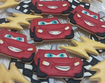 Lightning McQueen cookies (Cars the movie)