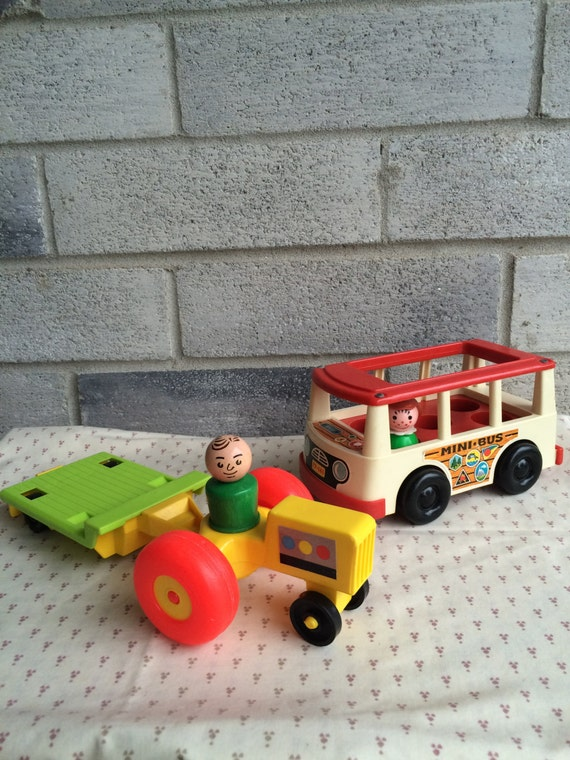 1970s Little People Fisher Price Tractor Little People