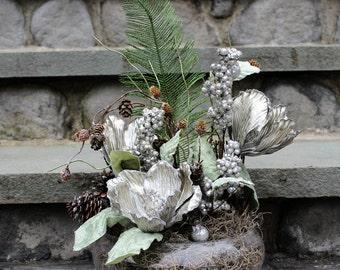 Winter Silver Floral Arrangement