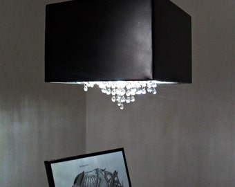 "Swarovski Crystal Chandelier Lighting ""Black Magic Lady"""