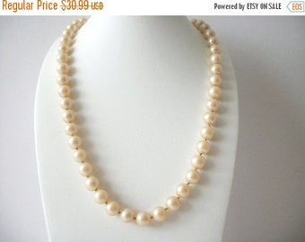 ON SALE Vintage 1950s VENDOME Signed Pearl Necklace 8516