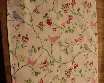 cotton Teatowel/ Drying up cloth / Kitchen accessories/ Birds teatowel