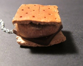 Polymer Clay Miniature S'mores Keychain