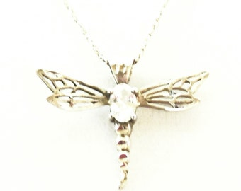 Dragon Fly Necklace Sterling Silver