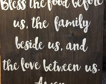 """Bless This Food Sign / 20""""x20"""""""