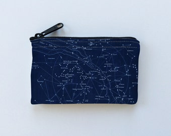 Coin Purse Constellations Little Zipper Pouch - Stars Coin Purse - Gadget Case Padded