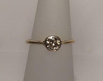 Antique Diamond Solitare Ring