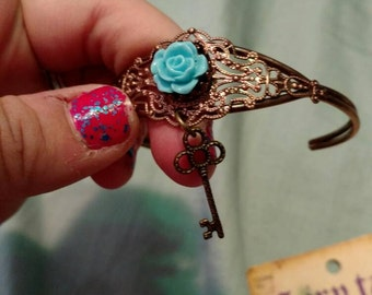 Key cuff bracelet