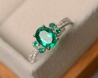 Emerald ring, engagement ring