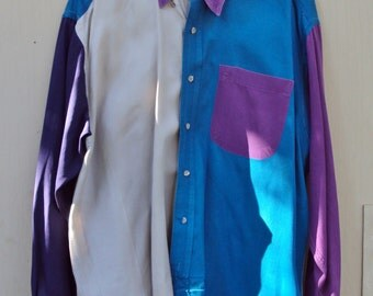 Vintage Ryon's Single Stitch 100% Cotton XL Long Sleeve Cowboy Shirt