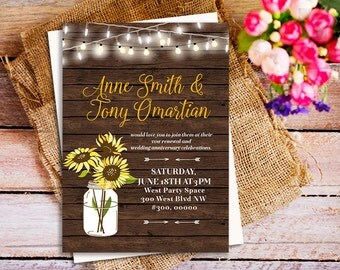 Vow Renewal Invitation, rustic Wood Vow Renewal invites, We Still Do invitations, rustic wedding anniversary, country western invitation