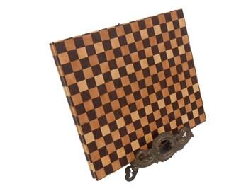 Walnut & Birdseye Maple end grain cutting board