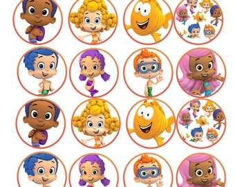 bubble guppies cake toppers guppies cake topper etsy 2100
