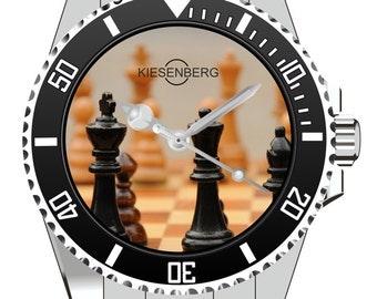 Chess Gift  Watch Kiesenberg  - Men Watch Jewelry Chess Chessboard Gift Present for Men- Watch 1964