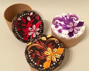 Decoratively Quilled Keepsake/Gift Box
