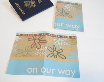Passport Cover, On Our Way Beach travels. Passport  Sleeve, Case, Holder